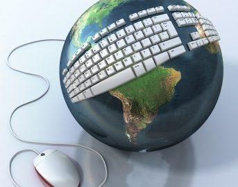 Image - Globe with keyboard